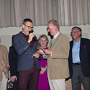 10.10. 2017.          <br /> Limerick Going for Gold 2017 finals in the Strand Hotel mc Richard Lynch awaits to announce the winner for 2017 with Noel Earlie from the JP McManus Charitable Foundation.<br /> <br /> <br /> Limerick Going for Gold, which is sponsored by the JP McManus Charitable Foundation, has a total prize pool of over €75,000.  It is organised by Limerick City and County Council and supported by Limerick's Live 95FM, The Limerick Leader and The Limerick Chronicle, The Limerick Post, Parkway Shopping Centre, I Love Limerick and Southern Marketing Media & Design. Picture: Alan Place