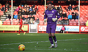 Darayl Flahavan in action during the Sky Bet League 2 match between Crawley Town and Notts County at the Checkatrade.com Stadium, Crawley, England on 16 January 2016. Photo by Michael Hulf.