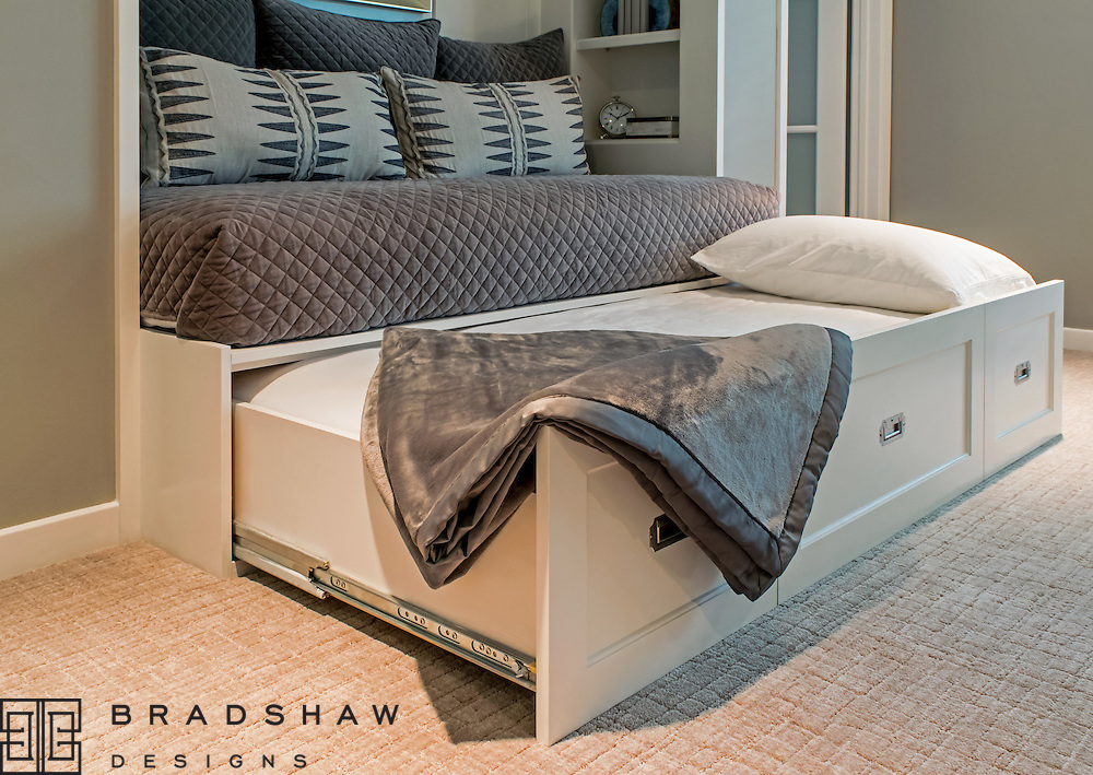 1st Place Award!  ASID Pinnacle of Design 2016, Special Feature, Guest Room trundle bed.