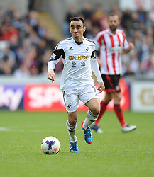 Swansea City's Leon Britton - Photo mandatory by-line: Alex James/JMP - Tel: Mobile: 07966 386802 19/10/2013 - SPORT - FOOTBALL - Liberty Stadium - Swansea - Swansea City v Sunderland - Barclays Premier League