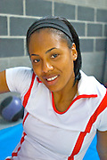 Debbie Dunn 400 Meter Sprinter Working Out at the FitCo Gym Norfolk Va
