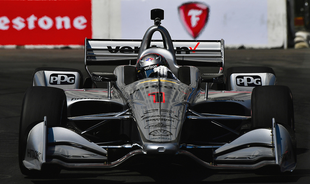 Josef Newgarden, Team Penske Chevrolet<br /> Friday 13 April 2018<br /> Toyota Grand Prix of Long Beach<br /> Verizon IndyCar Series<br /> Streets of Long Beach, California USA<br /> World Copyright: Scott R LePage<br /> LAT Images