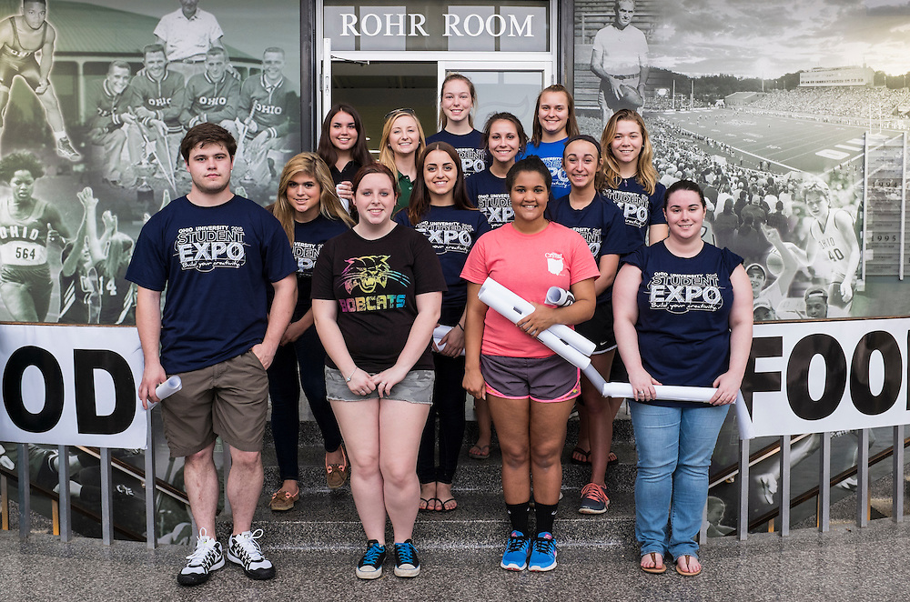 Student volunteers after the Ohio University Student Expo on Thursday, April 10, 2015.   Photo by Ohio University  /  Rob Hardin