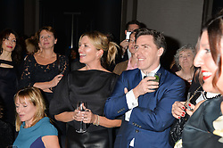 TINA HOBLEY and ROB BRYDON at the Old Vic 24 Hour Plays Celebrity Gala held at the Rosewood Hotel, 252 High Holborn, London on 24th November 2013.