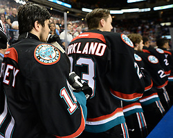 Action from the semi-final game at the 2015 MasterCard Memorial Cup between the Kelowna Rockets and Quebec Remparts at Pepsi Colisee in Quebec City on Friday, May 29, 2105. Photo by Aaron Bell/CHL Images