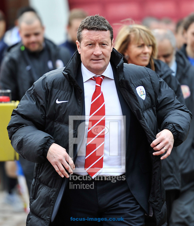 Danny Wilson Manager of Barnsley during the Sky Bet Championship match at Oakwell, Barnsley<br /> Picture by Richard Land/Focus Images Ltd +44 7713 507003<br /> 05/04/2014