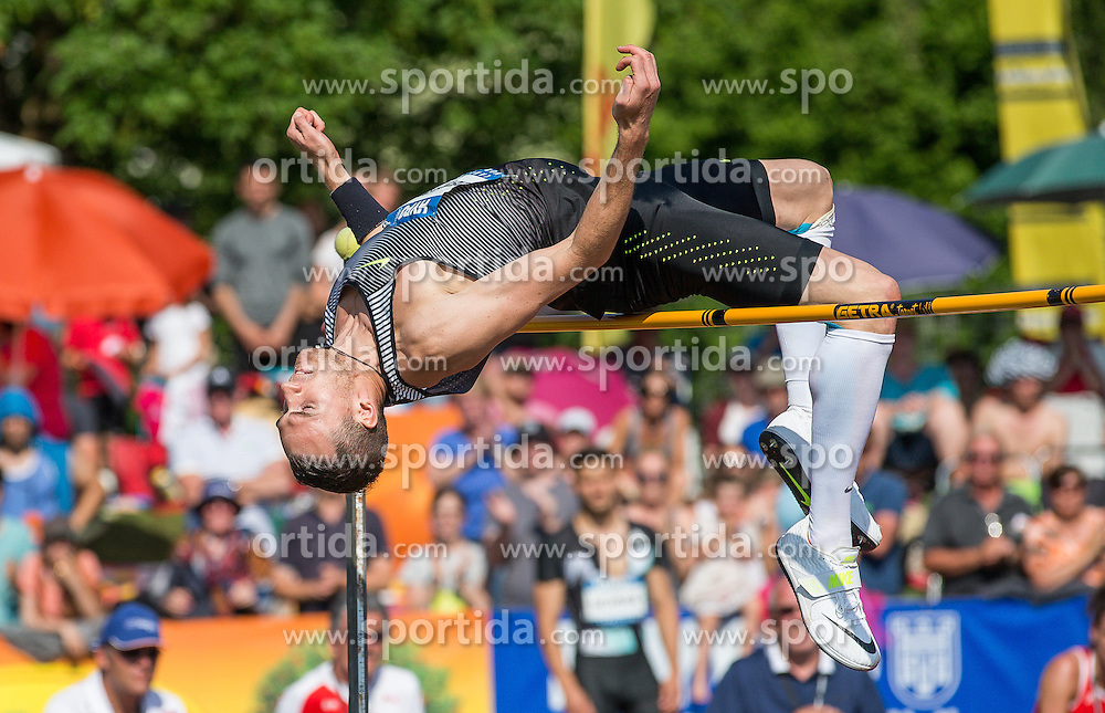 28.05.2016, Moeslestadion, Goetzis, AUT, 42. Hypo Meeting Goetzis 2016, Zehnkampf der Herren, Hochsprung, im Bild Dominik Distelberger (AUT) // Dominik Distelberger of Austria in action during the high jump event of the Decathlon competition at the 42th Hypo Meeting at the Moeslestadion in Goetzis, Austria on 2016/05/28. EXPA Pictures © 2016, PhotoCredit: EXPA/ Peter Rinderer