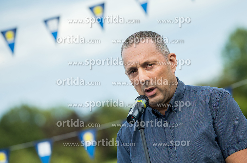 Damijan Lazar, president of ZSIS-POK at Opening of photo exhibition of Slovenian Paralympic Athletes before Rio 2016, on July 14, 2016 in Arboretum Volcji potok, Slovenia. Photo by Vid Ponikvar / Sportida