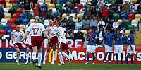 Fotball<br /> EM U21<br /> 24.05.2006<br /> Italia v Danmark<br /> Foto: Imago/Digitalsport<br /> NORWAY ONLY<br /> <br /> Torjubel Dänemark U21 - v.re.: Daniel Agger, Leon Andreasen und Jonas Trøst