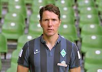 German Soccer Bundesliga - Official Photocall Werder Bremen,  Germany, on Sept. 14th 2014:<br /> Athletic Coach Reinhard Schnittker.