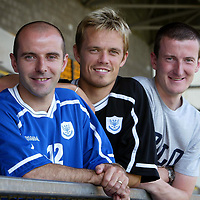 St Johnstone's ex-celts, Brian McLaughlin, Simon Donnelly and Chris Hay, all happy to be re-united at McDiarmid Park.<br />see story by Gordon Bannerman Tel: 01738 553978<br />Picture by Graeme Hart.<br />Copyright Perthshire Picture Agency<br />Tel: 01738 623350  Mobile: 07990 594431