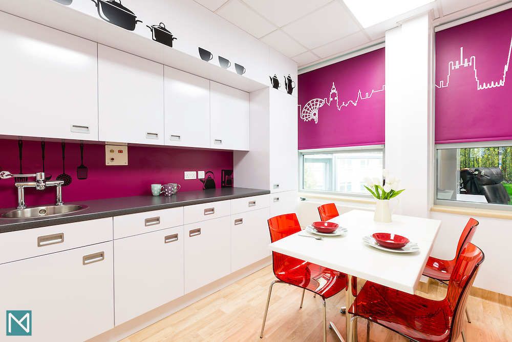 The canteen in Weston Park Hospital's Teenage Cancer Trust ward in Sheffield, for Teenage Cancer Trust