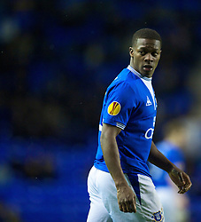 LIVERPOOL, ENGLAND - Thursday, December 17, 2009: Everton's Kieran Agard in action against FC BATE Borisov during the UEFA Europa League Group I match at Goodison Park. (Pic by David Rawcliffe/Propaganda)