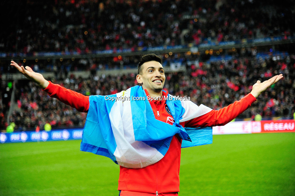 Victoire du PSG / Javier PASTORE   - 11.04.2015 -  Bastia / PSG - Finale de la Coupe de la Ligue 2015<br />
