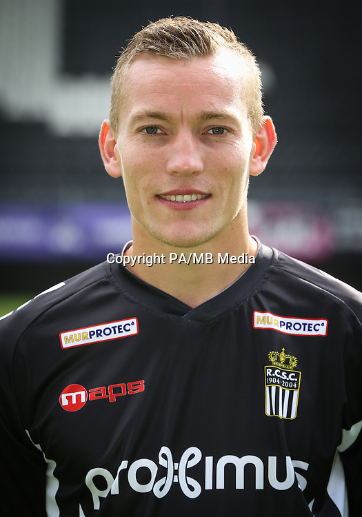 Charleroi's Florent Stevance pictured during the 2015-2016 season photo shoot of Belgian first league soccer team Sporting de Charleroi, Tuesday 14 July 2015 in Charleroi.