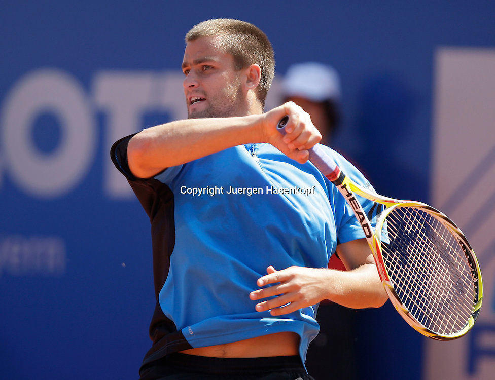 BMW Open 2009, Muenchen, Sport, Tennis,  International Series ATP  Tournament,  Mikhail Youzhny (RUS), Aktion..Foto: Juergen Hasenkopf