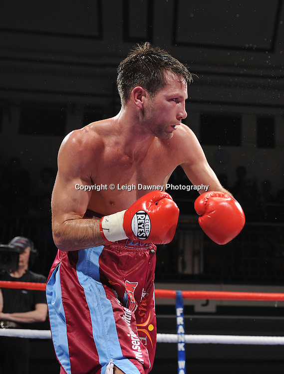 Light Welterweight Michael Lomax fights Frankie Gavin at York Hall, Bethnal Green, London on the 19th February 2011. Frank Warren Promotions. Photo credit © Leigh Dawney.