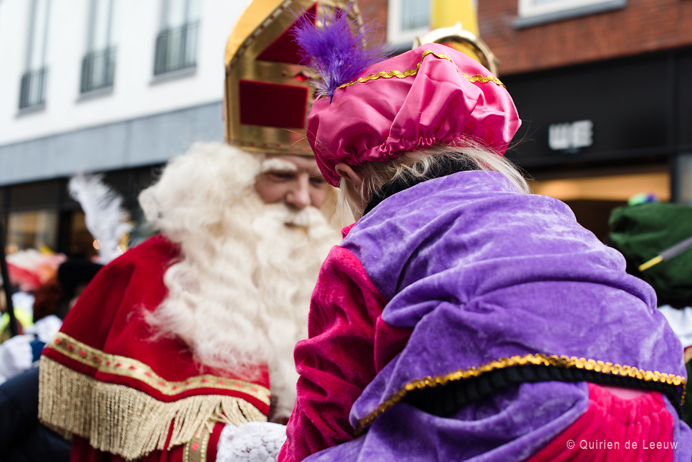 St Nicholas arrives at Gouda city, South of Holland. Sinterklaas or Sint-Nicolaas is a holy figure based on Saint Nicholas, patron saint of children.<br />