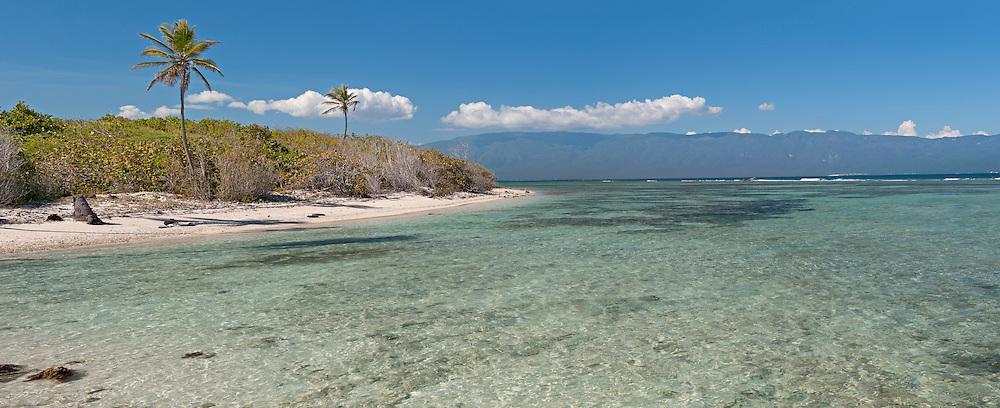 Beach near Bahoruco, Dominican Republic,Caribbean..