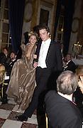 hon Katie Green and her escort, Charlie Sichel. Crillon Debutantes Ball 2002. Paris. 7 December 2002. © Copyright Photograph by Dafydd Jones 66 Stockwell Park Rd. London SW9 0DA Tel 020 7733 0108 www.dafjones.com