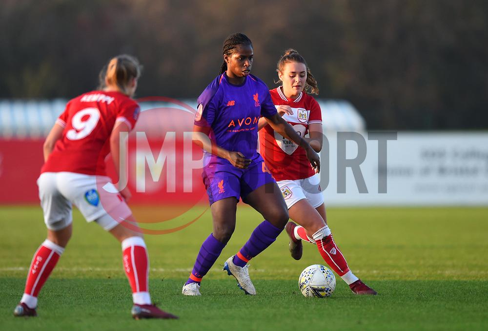 Satara Murray of Liverpool Women - Mandatory by-line: Paul Knight/JMP - 17/11/2018 - FOOTBALL - Stoke Gifford Stadium - Bristol, England - Bristol City Women v Liverpool Women - FA Women's Super League 1