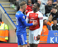 Football - 2018 / 2019 Premier League - Leicester City vs. Arsenal<br /> <br /> Leicester's James Maddison consoles Ainsley Maitland - Niles after Referee, Michael Oliver sent him off at King Power Stadium.<br /> <br /> COLORSPORT/ANDREW COWIE