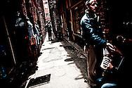 Shoppers at Fan Tan Alley