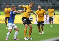 tippeliga, eliteserie, fotball, start, molde, 03.august, 2014<br />Kristoffer Ajer, Start<br />Andreas Hollingen, Molde<br />Foto: Ole Fjalsett