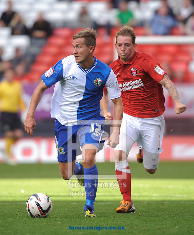 Picture by Gerald O'Rourke/Focus Images Ltd +44 7500 165179.29/09/2012.Morten Pedersen of Blackburn Rovers during the npower Championship match at The Valley, London.