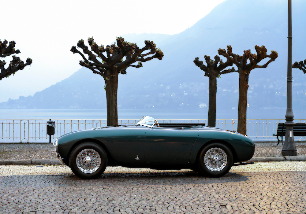 Ferrari 212.<br /> This one-off model built by Alfredo Vignale in Turin was initially sold to Count Umberto Marzotto of Trissino in 1951. He contested several races with it, as did Countess Pallavicini, who used the car for hillclimb events. In June 1951 the Swiss motoring journal Automobil Revue was already testing the racing Spider on Modena's Aerautodromo. The one-off model, restored by Paul Russell and Company in Massachusetts with two-tone paintwork typical of Vignale.