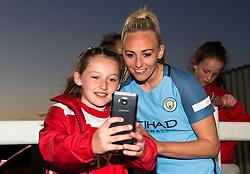 Jill Scott of Manchester City Women poses for a selfie - Mandatory by-line: Paul Knight/JMP - 09/05/2017 - FOOTBALL - Stoke Gifford Stadium - Bristol, England - Bristol City Women v Manchester City Women - FA Women's Super League Spring Series