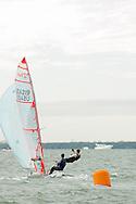 Miami, FL, USA, January 4, 2014 - Michael Pacholski and Haydon Stapleton round the windward mark  at the 29er Nationals held at Coconut Grove Sailing Club, Jan 1-4, 2013.