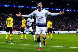 Fernando Llorente of Tottenham Hotspur celebrates scoring a goal to make it 3-0 - Mandatory by-line: Robbie Stephenson/JMP - 13/02/2019 - FOOTBALL - Wembley Stadium - London, England - Tottenham Hotspur v Borussia Dortmund - UEFA Champions League Round of 16, 1st Leg