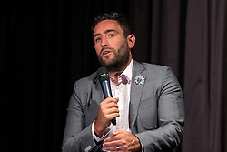 Bristol City head coach Lee Johnson takes questions from the floor during the Lansdown Club event - Mandatory by-line: Robbie Stephenson/JMP - 06/09/2016 - GENERAL SPORT - Ashton Gate - Bristol, England - Lansdown Club -