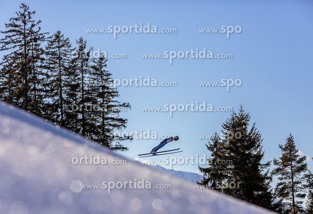 29.01.2016, Casino Arena, Seefeld, AUT, FIS Weltcup Nordische Kombination, Seefeld Triple, Langlauf, im Bild Magnus Hovdal Moan (NOR) // Magnus Hovdal Moan of Norway competes during his Trial Jump of Skijumping of the FIS Nordic Combined World Cup Seefeld Triple at the Casino Arena in Seefeld, Austria on 2016/01/29. EXPA Pictures © 2016, PhotoCredit: EXPA/ JFK