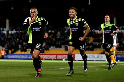 James Vaughan of Bury celebrates scoring a goal to make it 1-1 - Mandatory by-line: Robbie Stephenson/JMP - 20/01/2017 - FOOTBALL - Vale Park - Stoke-on-Trent, England - Port Vale v Bury - Sky Bet League One