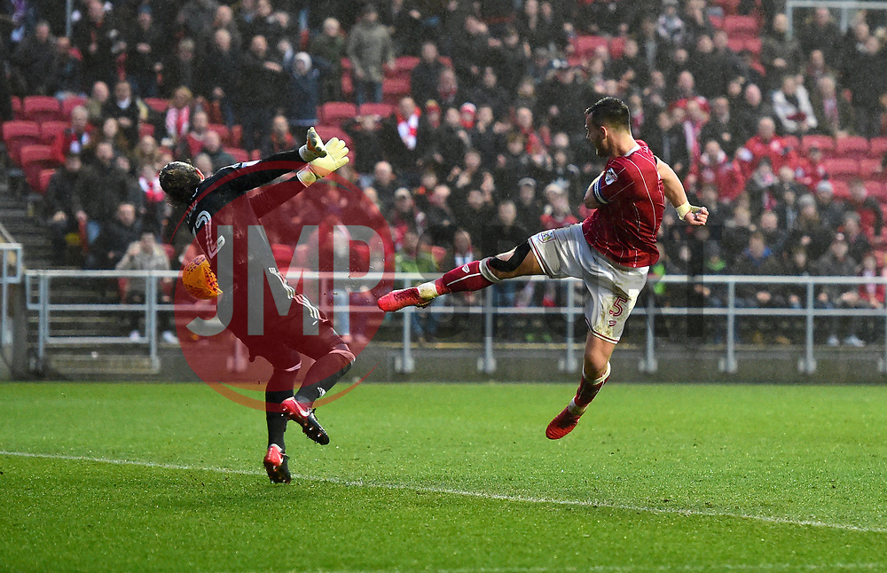 Bailey Wright of Bristol City goes close  - Mandatory by-line: Joe Meredith/JMP - 10/02/2018 - FOOTBALL - Ashton Gate Stadium - Bristol, England - Bristol City v Sunderland - Sky Bet Championship