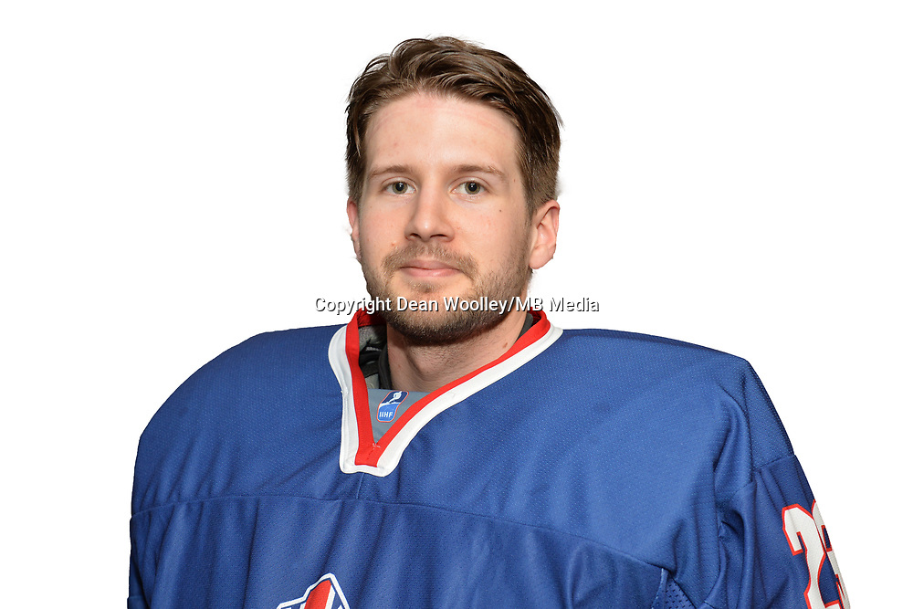 BUDAPEST, HUNGARY - APRIL 18:  Great Britain Ice Hockey Team Netminder, Thomas Murdy. IIHF World Championship Division 1A (Photo by Dean Woolley)