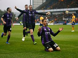 Bristol Rovers' Alefe Santos celebrates his goal - Photo mandatory by-line: Matt Bunn/JMP - Tel: Mobile: 07966 386802 12/10/2013 - SPORT - FOOTBALL - Field Mill - Mansfield - Mansfield Town V Bristol Rovers - Sky Bet League 2
