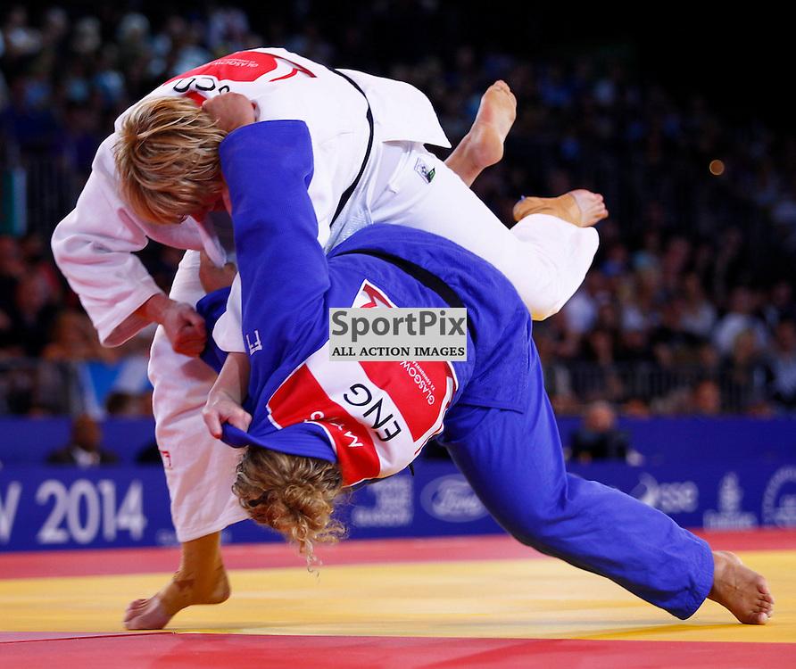 COMMONWEALTH GAMES - GLASGOW....Sarah Adlington wins gold in the Women's Judo 78kg  competition ...(c) STEPHEN LAWSON | SportPix.org.uk