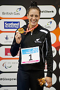 Sophie Pascoe of New Zealand wins gold in the Women's 100m Butterfly S10. 2015 IPC Swimming World Championships - Tollcross Swimming Centre, Glasgow, Scotland. Photo credit: Luc Percival Photography.
