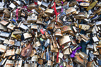 Close up of Love Padlock