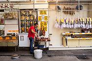 dried seafood shops in Sheung Wan, Hong Kong