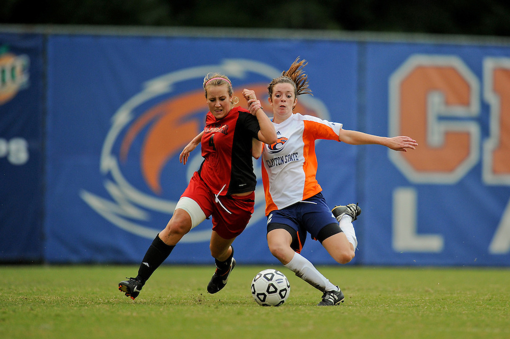 Sept. 15, 2012; Morrow, GA, USA; Clayton State women's soccer player Lorna O'Connell against the Flagler at CSU. Photo by Kevin Liles/kdlphoto.com
