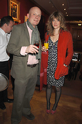 CATHERINE FITZ-GERALD daughter of The Knight if Glin and TOM HALIFAX at a reception to launch the Knight of Glin's book 'Irish Furniture' and Harry Erne's book 'Freddy Lond Ears' held at Christie's, 8 King Street, London SW1 on 3rd May 2007.<br /><br />NON EXCLUSIVE - WORLD RIGHTS