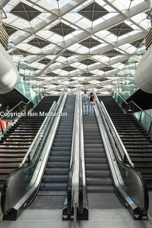 Interior of Den Haag Central railway station after modernisation in The Hague, Netherlands