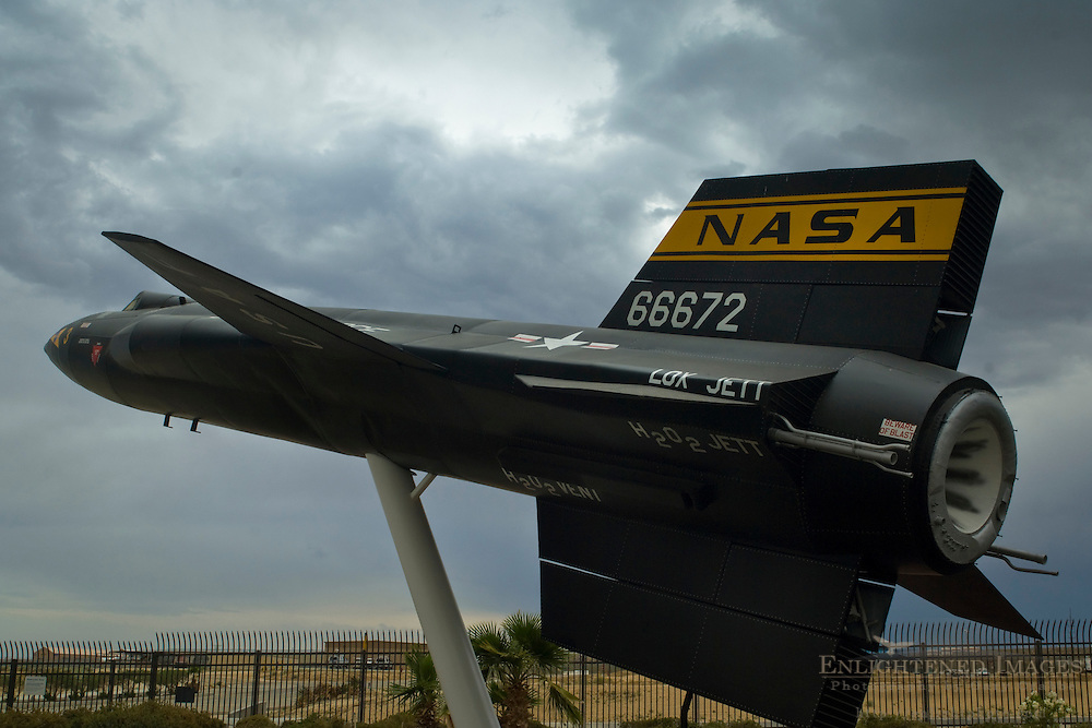 X-15 Rocket Plane on display at NASA Dryden Flight Research Center; Edwards Air Force Base; near Mojave; California