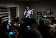 Democratic 2020 presidential candidate Beto O'Rourke, 46, speaks with supporters at a meet and greet during a three day road trip across Iowa, in Dubuque, Iowa, U.S., March 16, 2019.  REUTERS/Ben Brewer