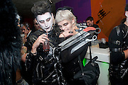 HENRY HOLLAND; PIXIE GELDOF;  Browns Focus Halloween party. Shepherds Bush pavilion. Shepherds Bush. London. 30 October 2009