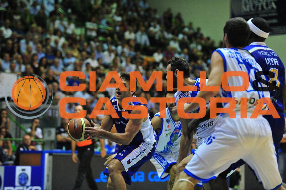 DESCRIZIONE : Sassari Lega A 2013-14 Dinamo Sassari - Pallacanestro Cant&ugrave;<br /> GIOCATORE :Stefano Gentile<br /> CATEGORIA :Tiro<br /> SQUADRA : Pallacanestro Cant&ugrave;<br /> EVENTO : Campionato Lega A 2013-2014 <br /> GARA : Dinamo Sassari - Pallacanestro Cant&ugrave;<br /> DATA : 20/10/2014<br /> SPORT : Pallacanestro <br /> AUTORE : Agenzia Ciamillo-Castoria/M.Turrini<br /> Galleria : Lega Basket A 2013-2014  <br /> Fotonotizia : Sassari Lega A 2013-14 Dinamo Sassari - Pallacanestro Cant&ugrave;<br /> Predefinita :